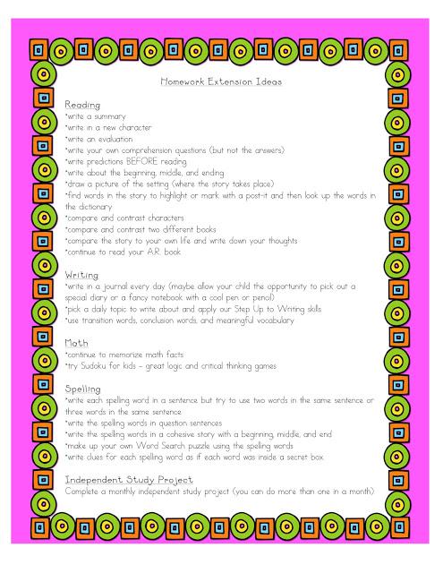 homework extension