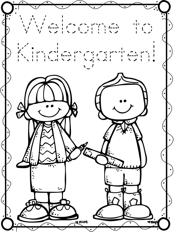 First Day Freebies A Teeny Tiny Teacher Welcome To Kindergarten Coloring Page