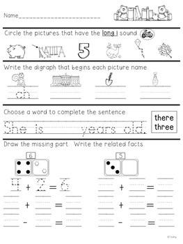 First Grade Morning Work 2-3 - A Teeny Tiny Teacher